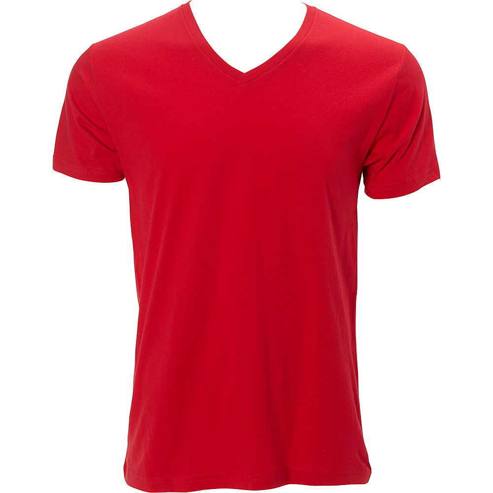Simplex Apparel Premium Mens V Tee 2XL - Red - Simplex Apparel Mens Apparel - Apparel & Footwear, Men's Apparel
