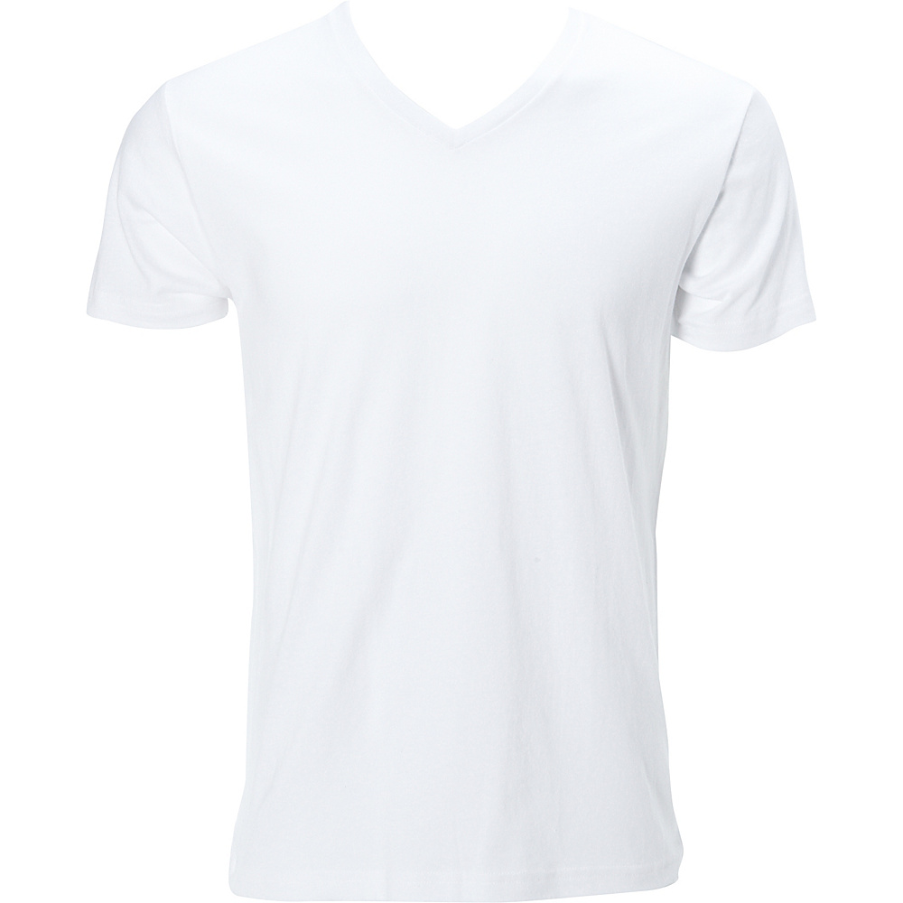 Simplex Apparel Premium Mens V Tee S - White - Simplex Apparel Mens Apparel - Apparel & Footwear, Men's Apparel
