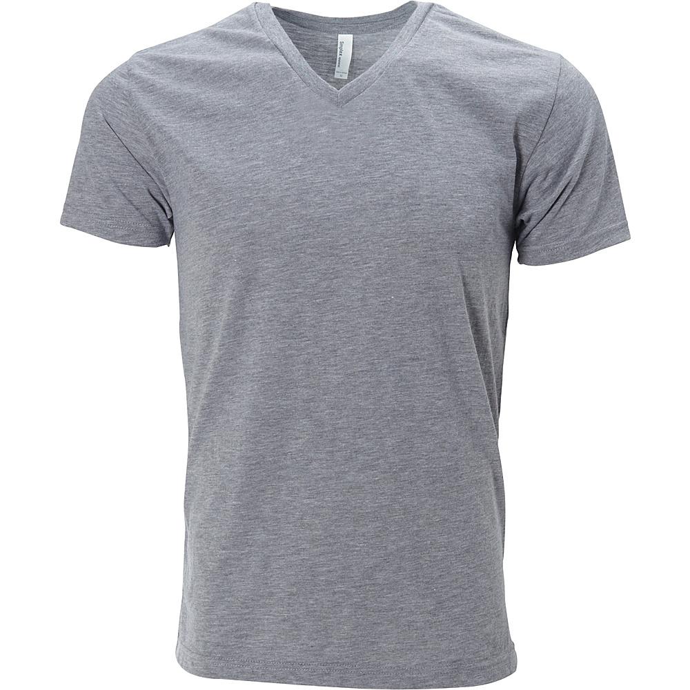Simplex Apparel Triblend Mens V Tee L - Heather Grey - Simplex Apparel Mens Apparel - Apparel & Footwear, Men's Apparel