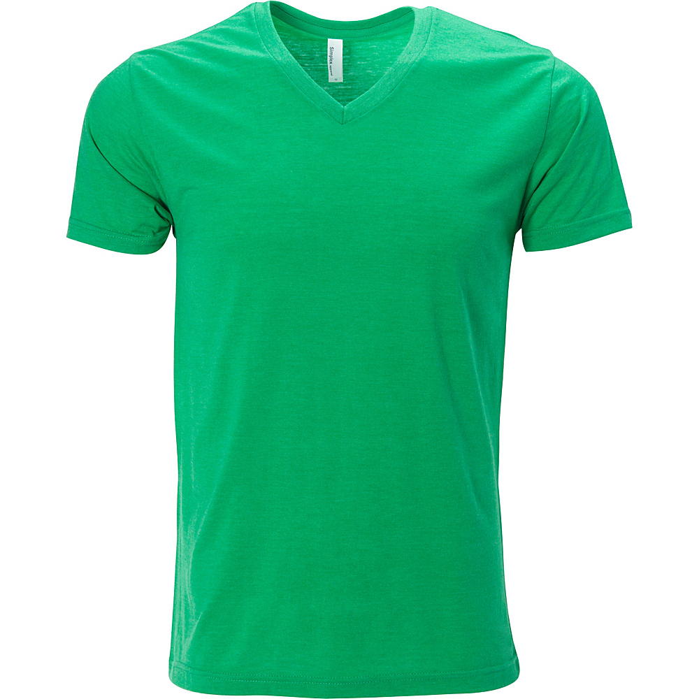 Simplex Apparel Triblend Mens V Tee 2XL - Lush Green - Simplex Apparel Mens Apparel - Apparel & Footwear, Men's Apparel