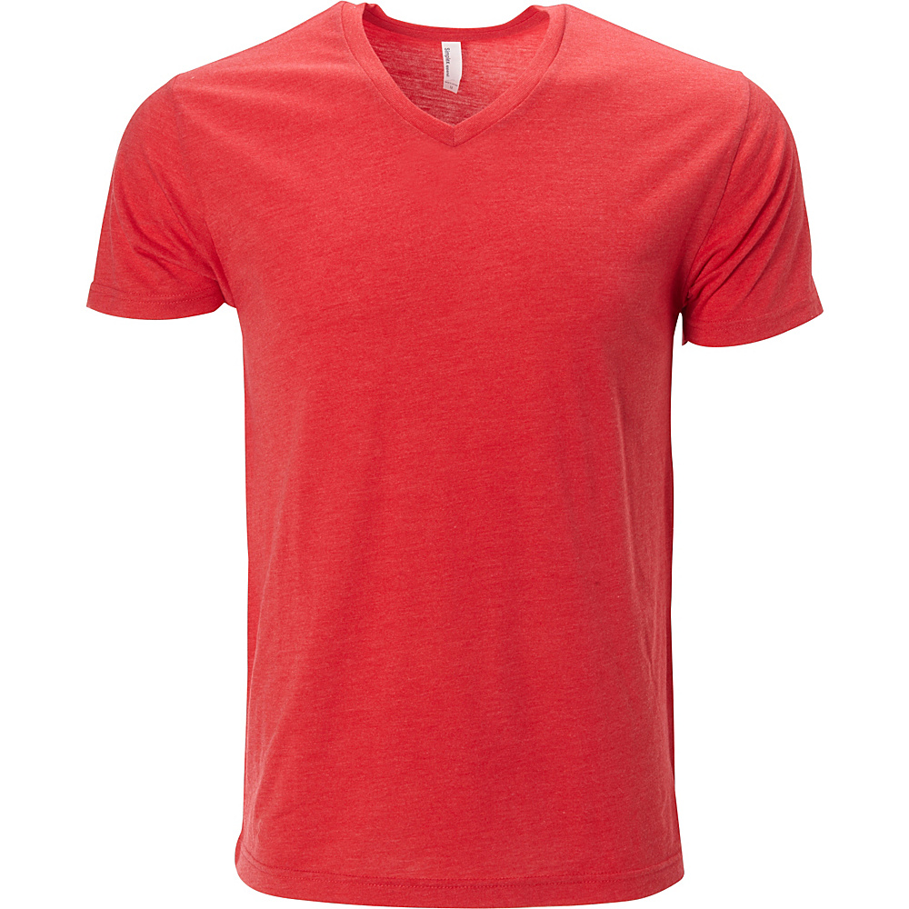 Simplex Apparel Triblend Mens V Tee L - Ruby Red - Simplex Apparel Mens Apparel - Apparel & Footwear, Men's Apparel