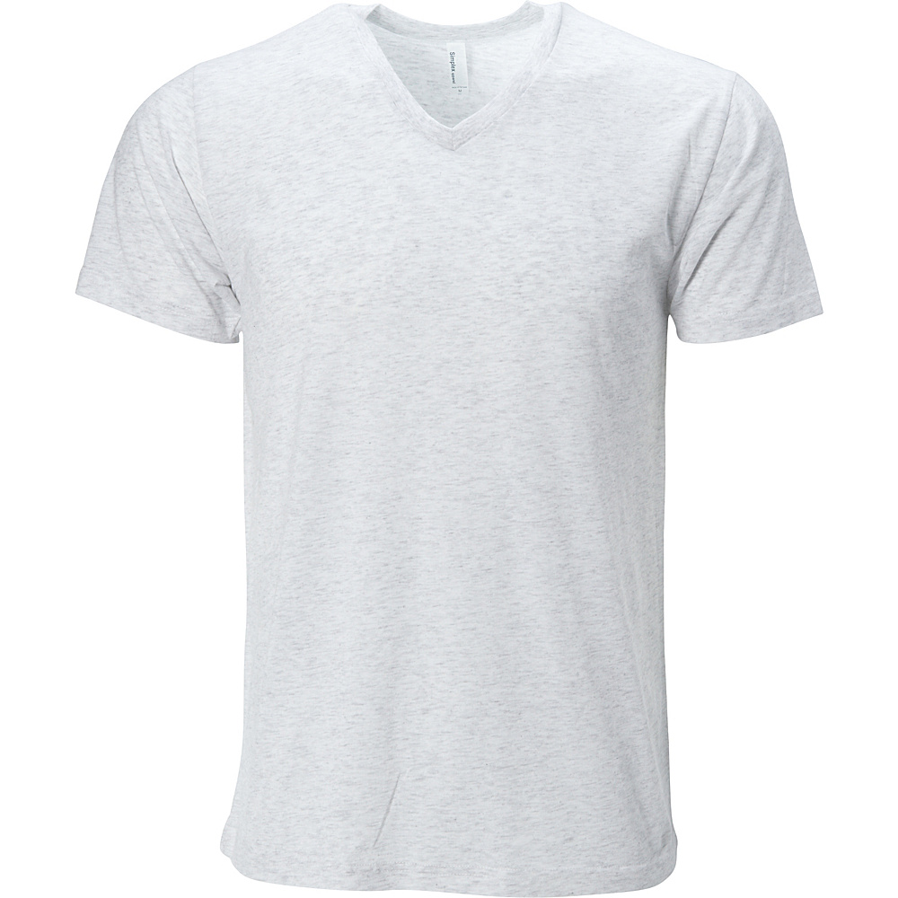 Simplex Apparel Triblend Mens V Tee XL - Speckled White - Simplex Apparel Mens Apparel - Apparel & Footwear, Men's Apparel