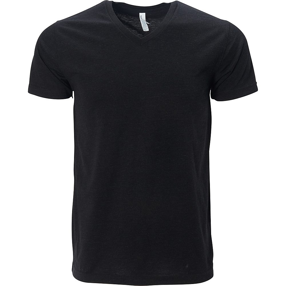 Simplex Apparel Triblend Mens V Tee 2XL - Vintage Black - Simplex Apparel Mens Apparel - Apparel & Footwear, Men's Apparel