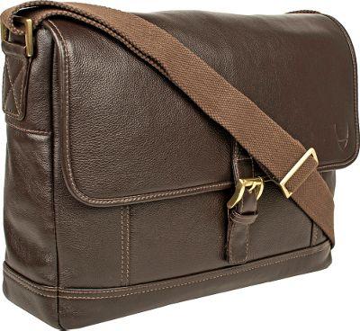 Hidesign Hunter Leather Messenger Brown - Hidesign Messenger Bags