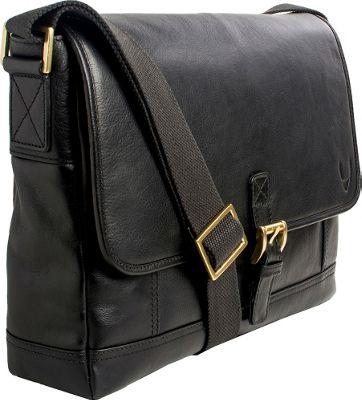 Hidesign Hunter Leather Messenger Black - Hidesign Messenger Bags