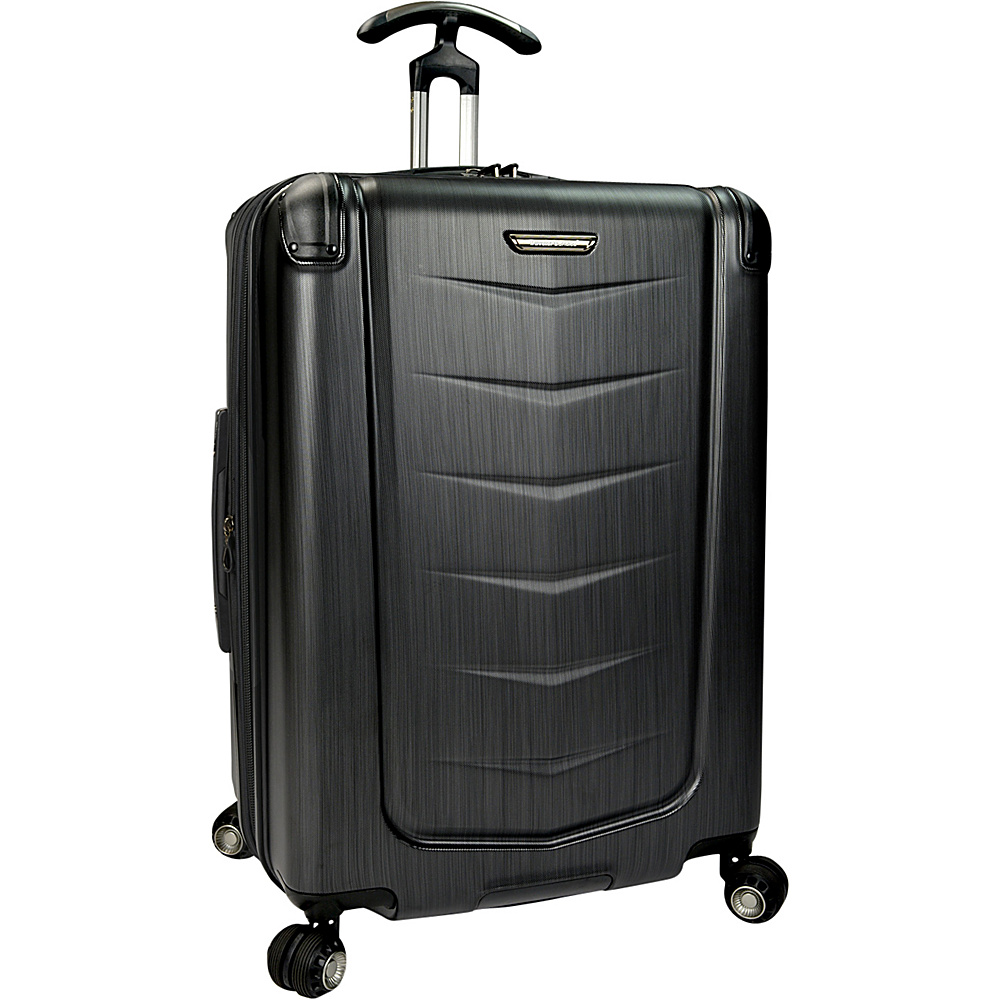 Traveler s Choice Silverwood 26 Polycarbonate Hardside Spinner Brushed Metal Traveler s Choice Hardside Checked