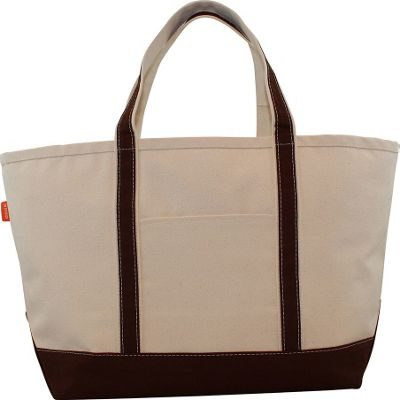 CB Station Boat Tote Large Brown - CB Station Fabric Handbags