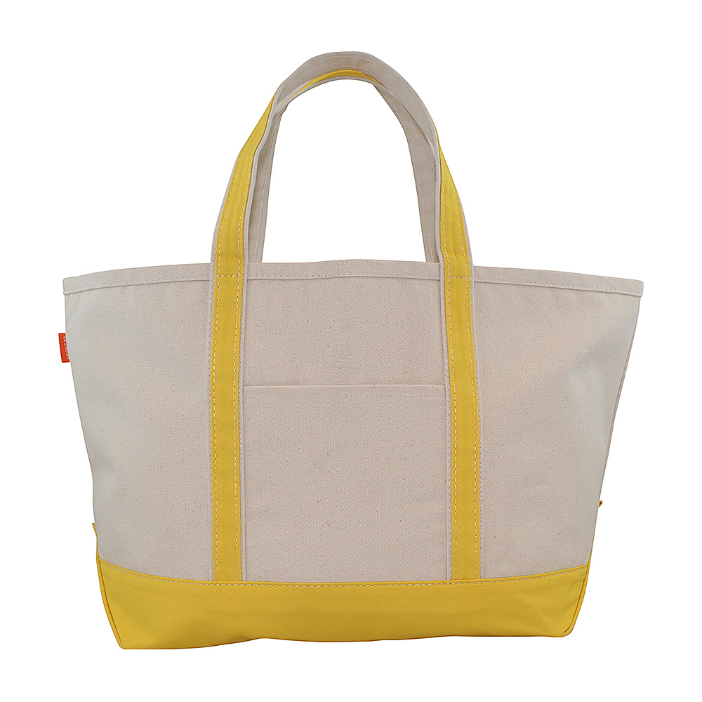 CB Station Boat Tote Large Yellow CB Station Fabric Handbags