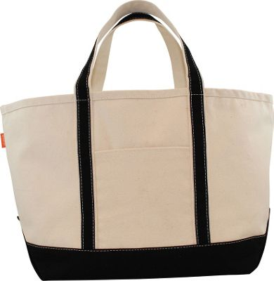 CB Station Boat Tote Large Natural/Black - CB Station Fabric Handbags