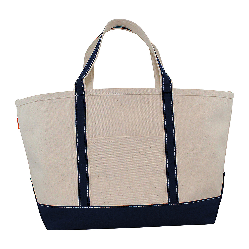CB Station Boat Tote Large Navy CB Station Fabric Handbags