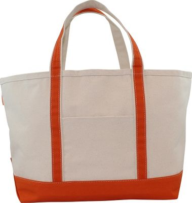 CB Station Boat Tote Large Orange - CB Station Fabric Handbags