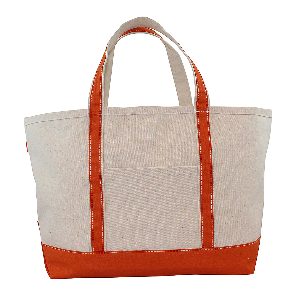 CB Station Boat Tote Large Orange CB Station Fabric Handbags