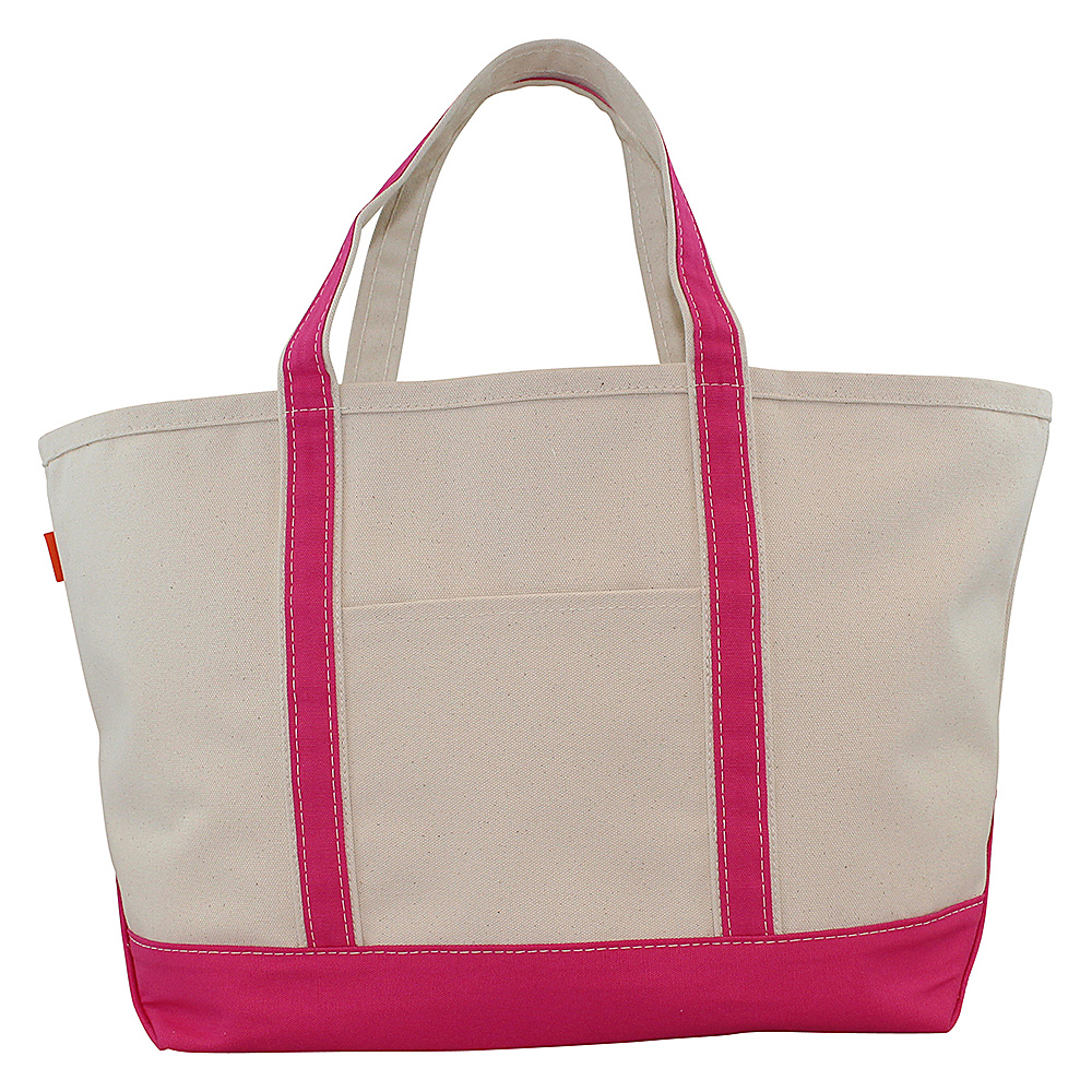 CB Station Boat Tote Large Hot Pink CB Station Fabric Handbags