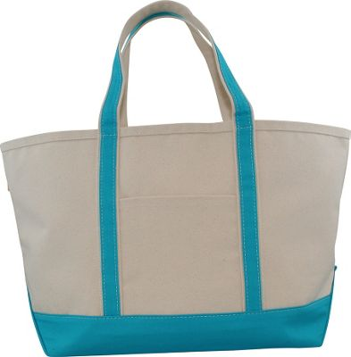 CB Station Boat Tote Large Turquoise - CB Station Fabric Handbags