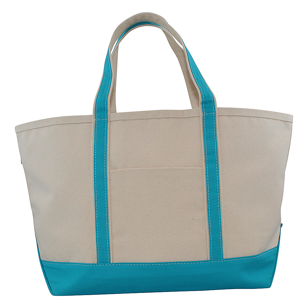 CB Station Boat Tote Large Turquoise CB Station Fabric Handbags