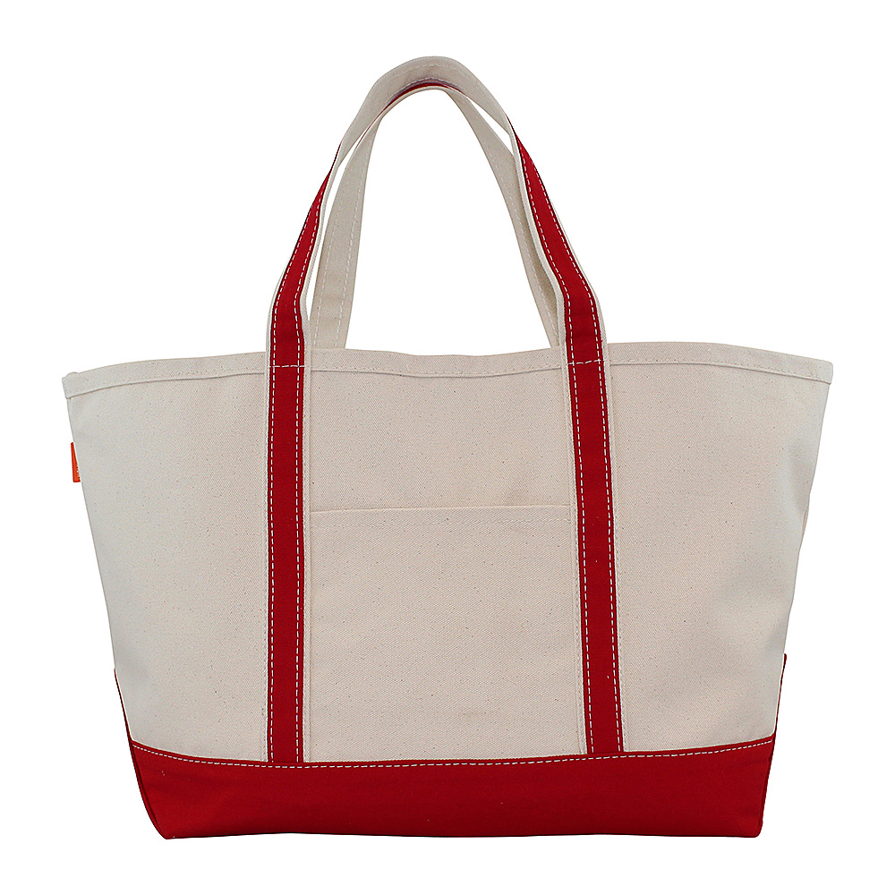 CB Station Boat Tote Large Red CB Station Fabric Handbags
