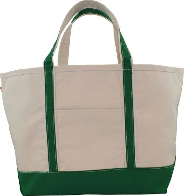 CB Station Boat Tote Large Emerald - CB Station Fabric Handbags