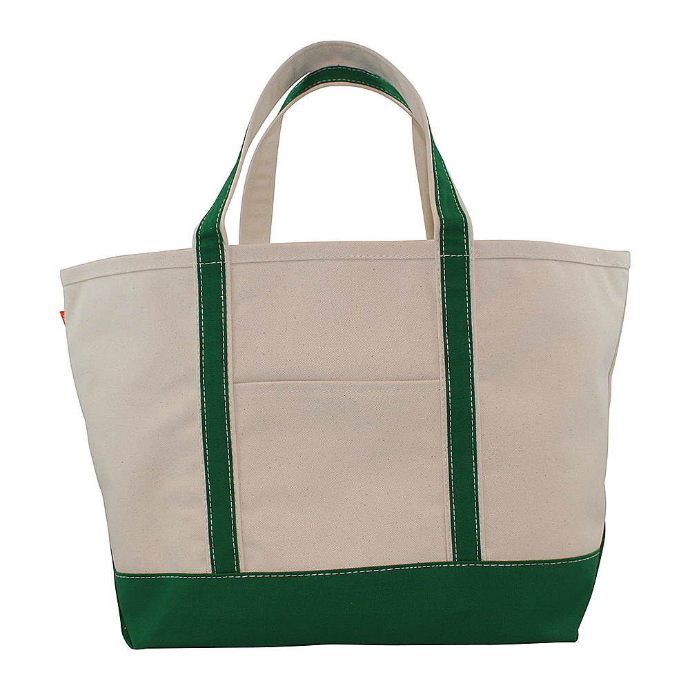 CB Station Boat Tote Large Emerald CB Station Fabric Handbags