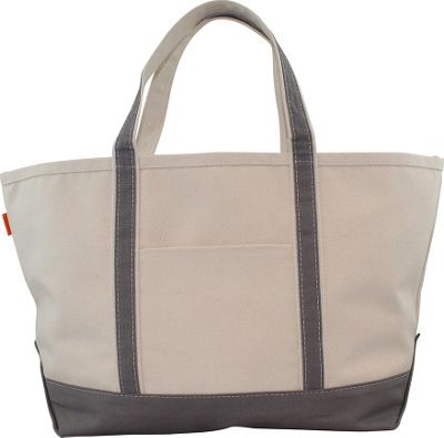 CB Station Boat Tote Large Gray - CB Station Fabric Handbags