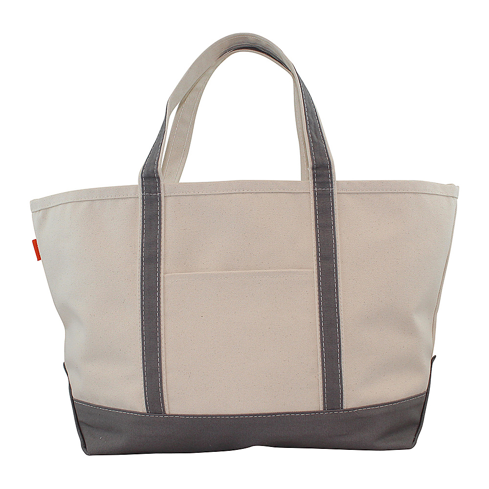 CB Station Boat Tote Large Gray CB Station Fabric Handbags