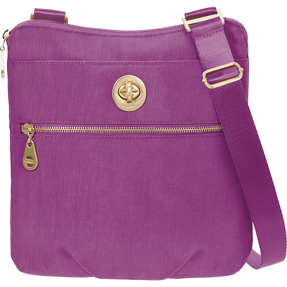 baggallini Gold Hanover Crossbody- Retired Colors Magenta - baggallini Fabric Handbags - Handbags, Fabric Handbags