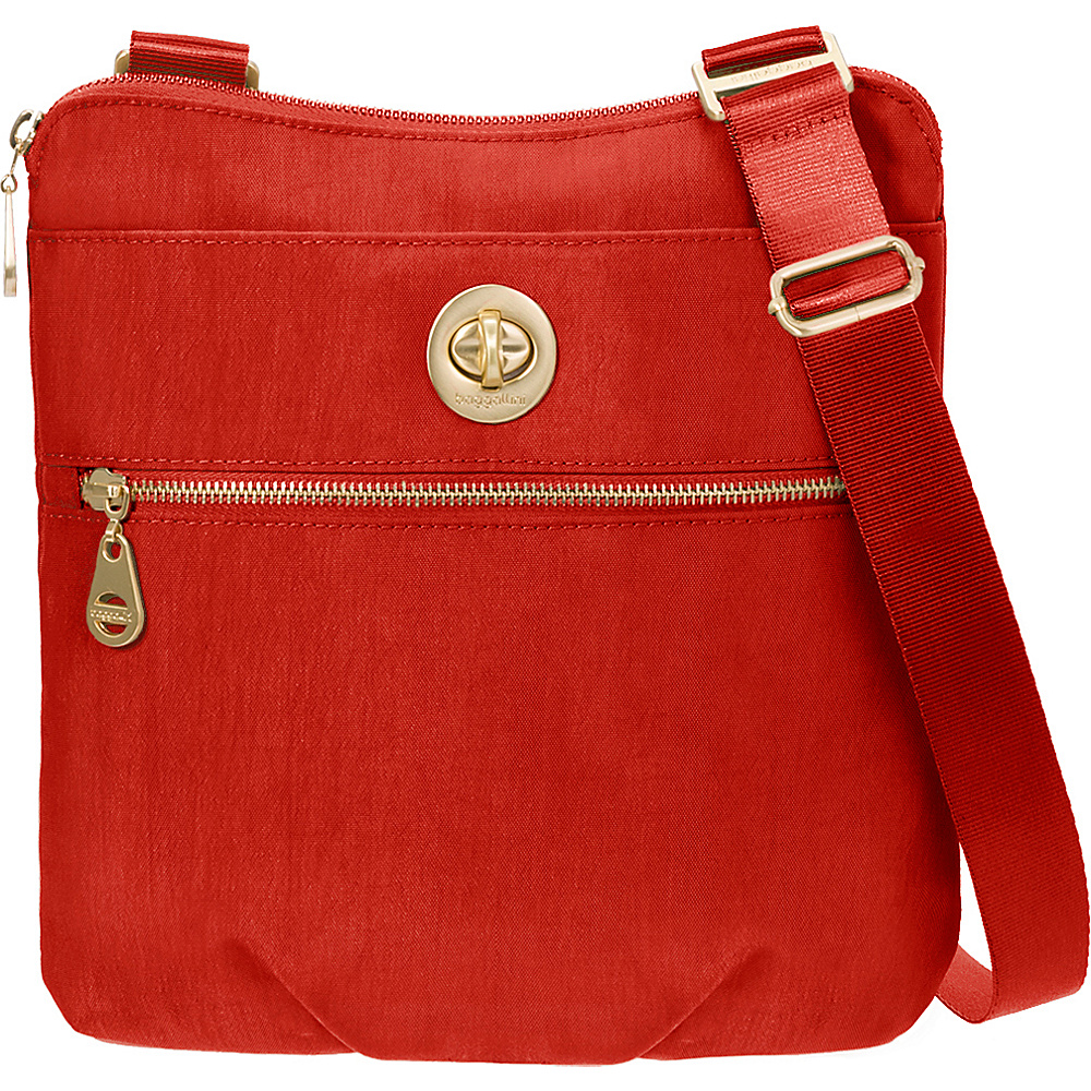 baggallini Gold Hanover Crossbody- Retired Colors Poppy Red - baggallini Fabric Handbags - Handbags, Fabric Handbags