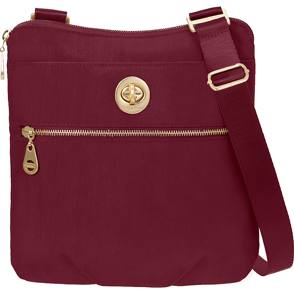 baggallini Gold Hanover Crossbody- Retired Colors Berry - baggallini Fabric Handbags