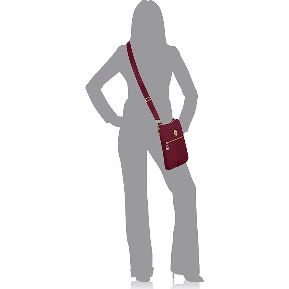 baggallini Gold Hanover Crossbody- Retired Colors Magenta - baggallini Fabric Handbags