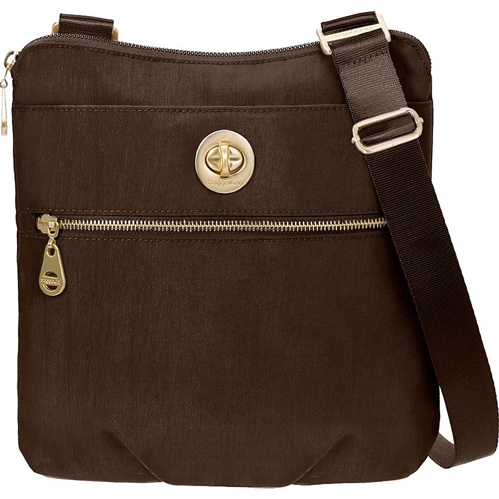 baggallini Gold Hanover Crossbody- Retired Colors Java - baggallini Fabric Handbags
