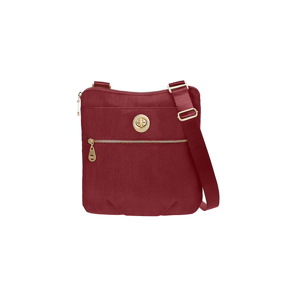 baggallini Gold Hanover Crossbody- Retired Colors Scarlet - baggallini Fabric Handbags