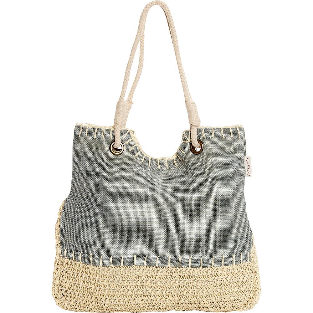 Sun N Sand Marquise Tote Blue - Sun N Sand Fabric Handbags - Handbags, Fabric Handbags