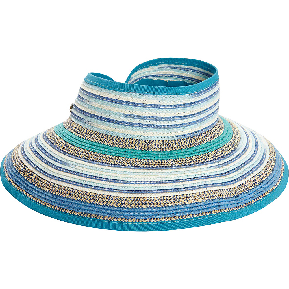 Sun N Sand Roll Up Multi Visor One Size - Blue - Sun N Sand Hats - Fashion Accessories, Hats