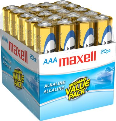 Maxell AAA Gold Series Alkaline Battery Bulk 20 Pack Gold - Maxell Portable Batteries & Chargers