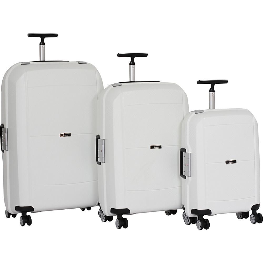 it luggage Monoguard 8 Wheel Spinner 3 Piece Set - CLOSEOUT White - it luggage Luggage Sets