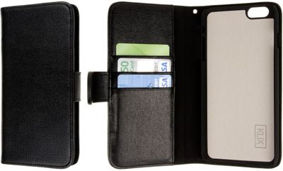EMPIRE KLIX Genuine Leather Wallet for Apple iPhone 6 Plus / 6S Plus Black - EMPIRE Electronic Cases