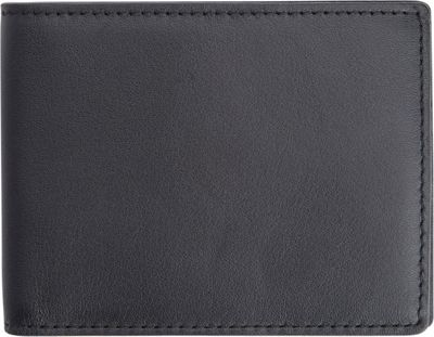 Royce Leather 100 Step Wallet, Men's Slim Bifold Wallet with RFID Blocking Technology Black with Red Interior - Royce Leather Men's Wallets