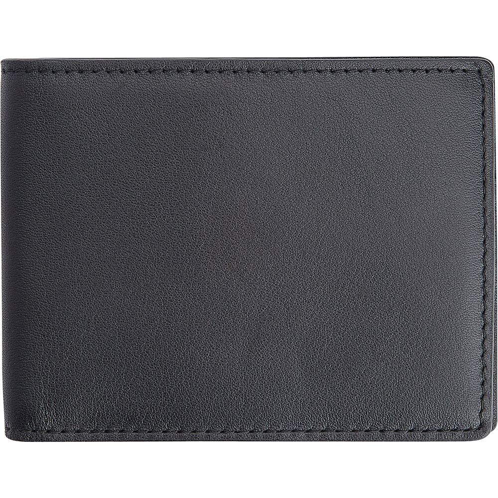 Royce Leather 100 Step Wallet, Mens Slim Bifold Wallet with RFID Blocking Technology Black with Red Interior - Royce Leather Mens Wallets - Work Bags & Briefcases, Men's Wallets