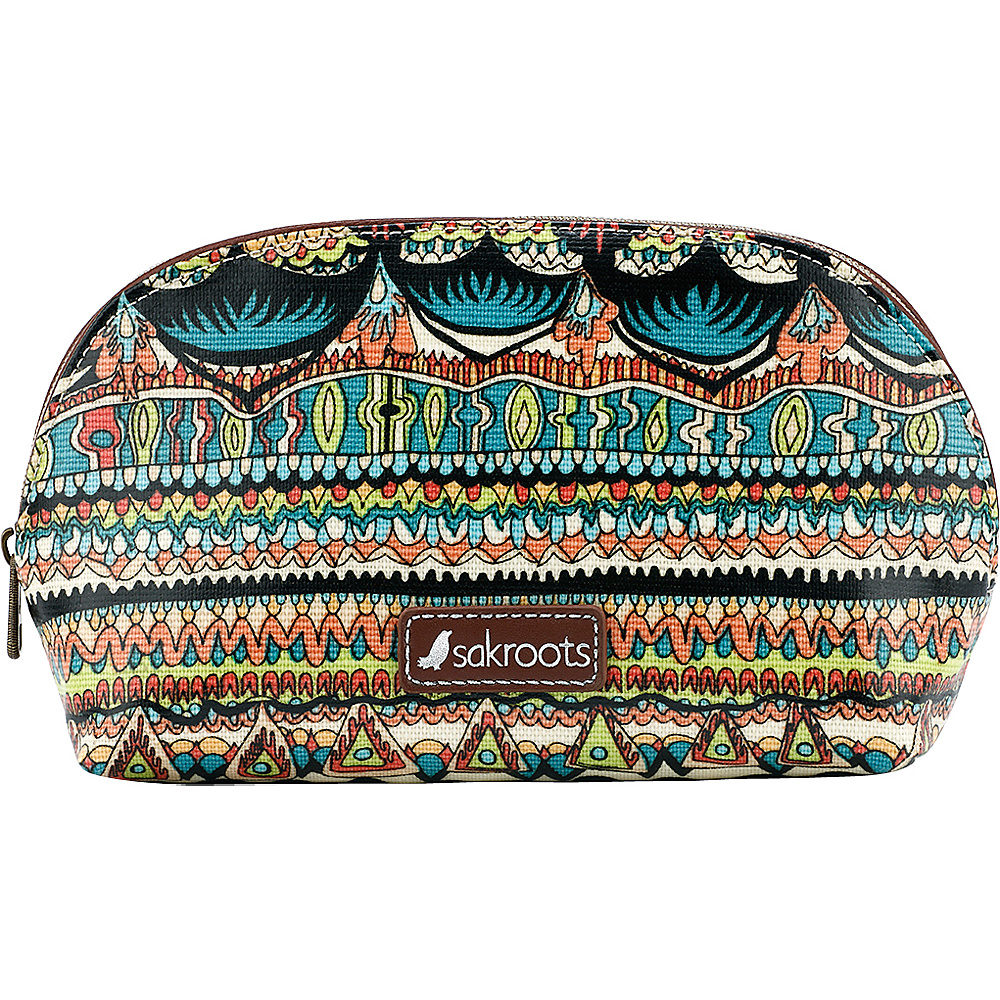 Sakroots Artist Circle Medium Dome Cosmetic Natural One World - Sakroots Womens SLG Other - Women's SLG, Women's SLG Other