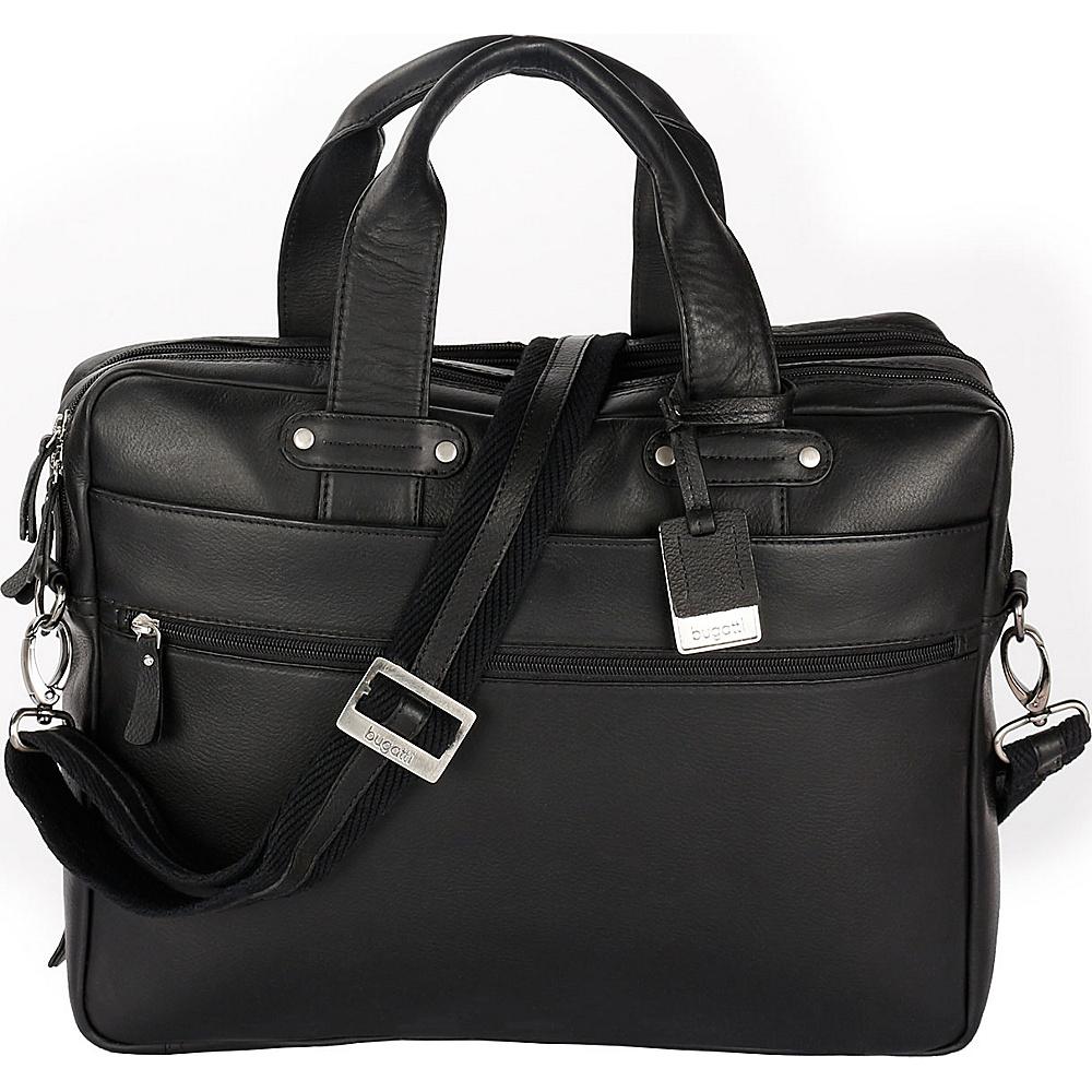 Bugatti Pereira Executive Briefcase Leather Black - Bugatti Non-Wheeled Business Cases