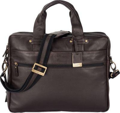 Bugatti Pereira Executive Briefcase Leather Cognac - Bugatti Non-Wheeled Business Cases