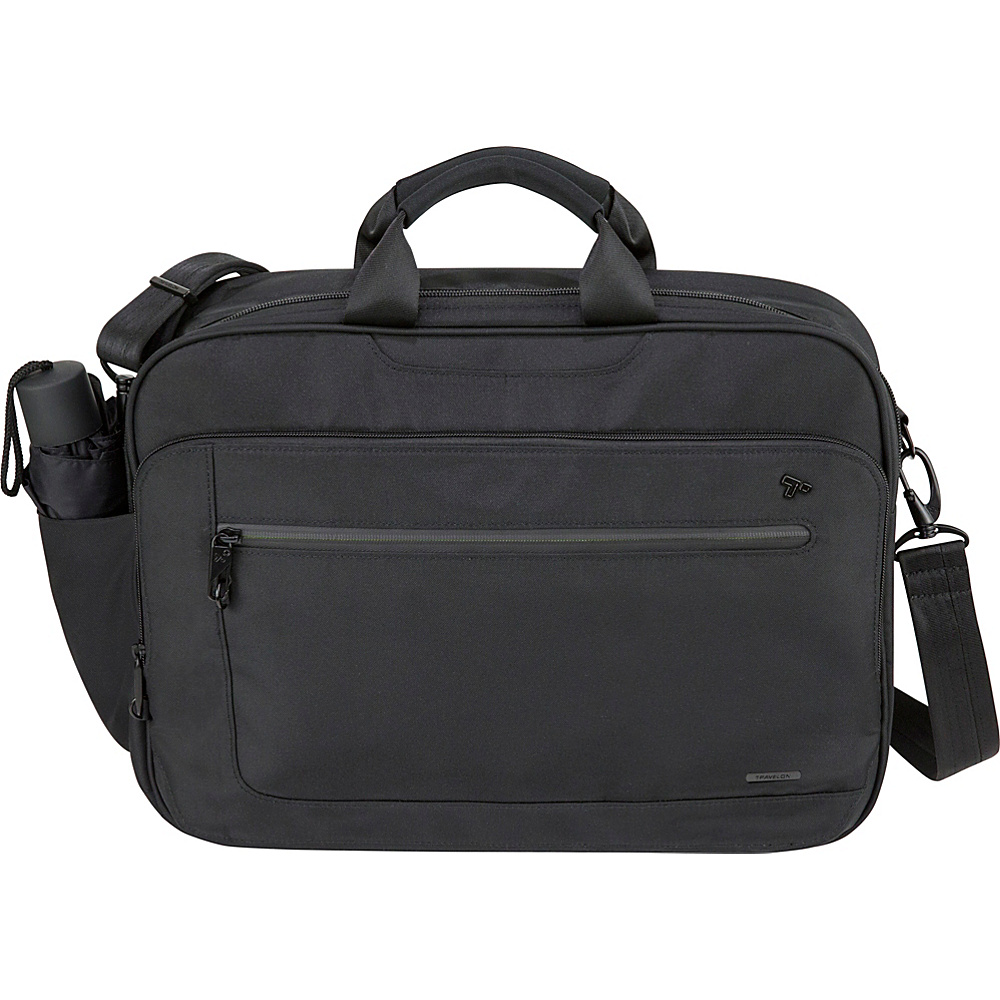 Travelon Anti-Theft Urban Messenger Briefcase Black - Travelon Non-Wheeled Business Cases - Work Bags & Briefcases, Non-Wheeled Business Cases