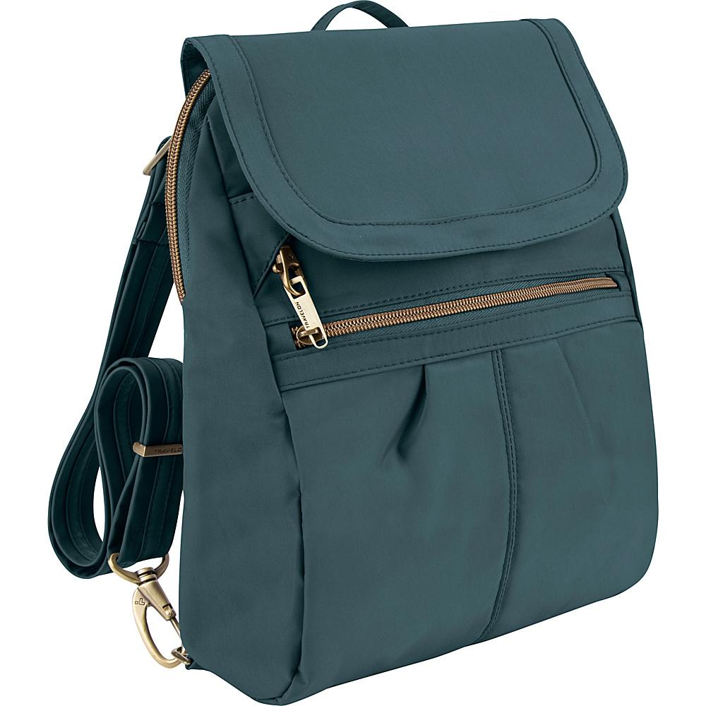 Travelon Anti-Theft Signature Slim Backpack - Exclusive Colors Teal - Exclusive Color - Travelon Fabric Handbags - Handbags, Fabric Handbags