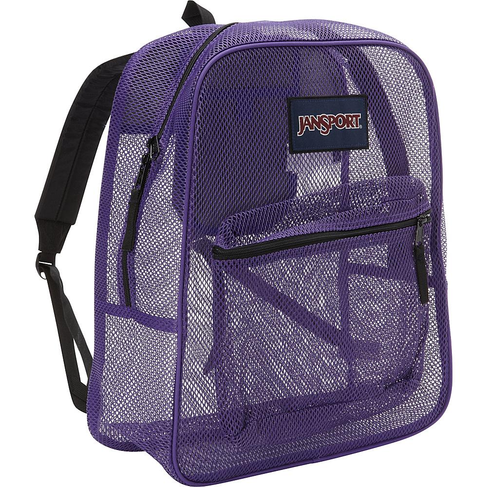JanSport Mesh Pack Purple Night - JanSport Everyday Backpacks - Backpacks, Everyday Backpacks
