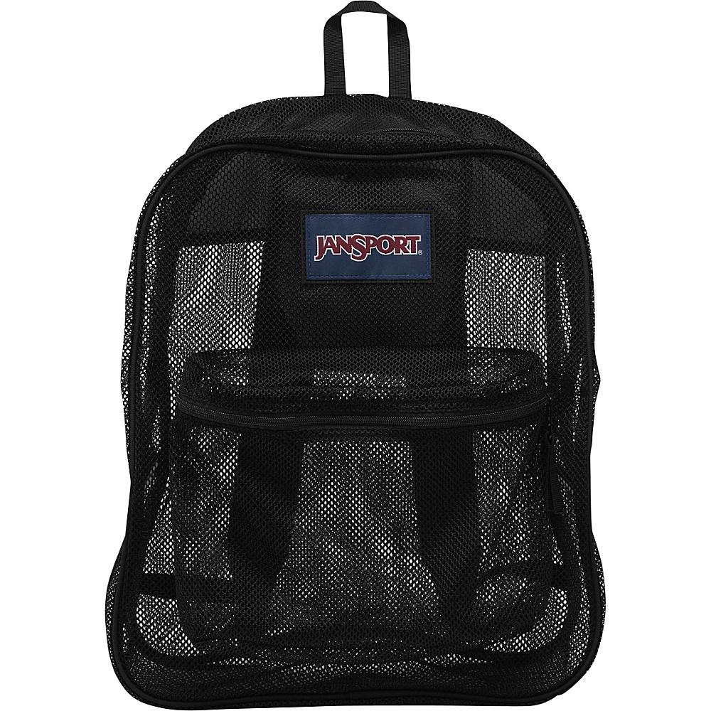 JanSport Mesh Pack Black - JanSport Everyday Backpacks