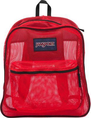 JanSport Mesh Pack High Risk Red - JanSport Everyday Backpacks