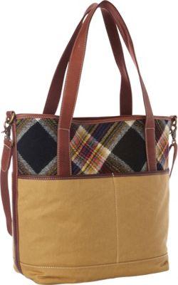 Pendleton Manly Tote Acadia Plaid - Pendleton Fabric Handbags