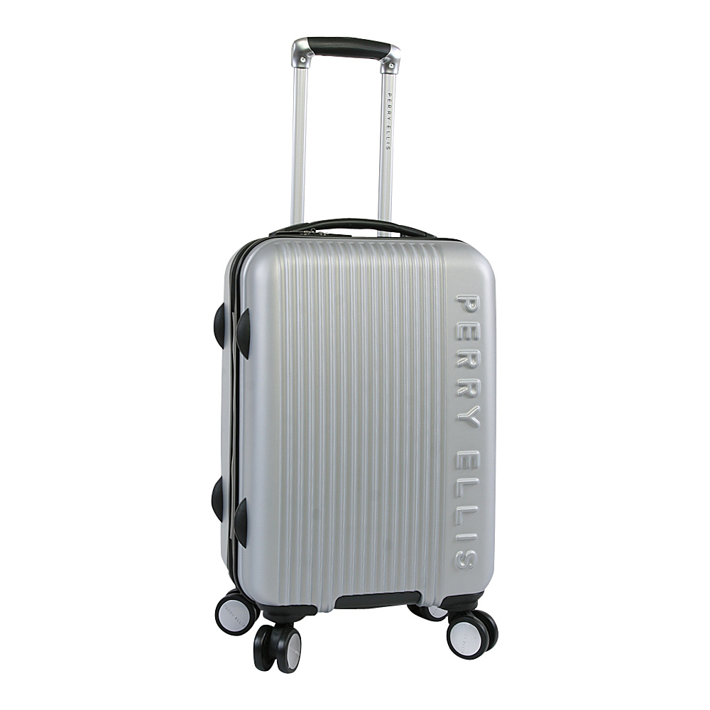 Perry Ellis Forte Hardside Spinner Carry-on Luggage Silver - Perry Ellis Hardside Carry-On