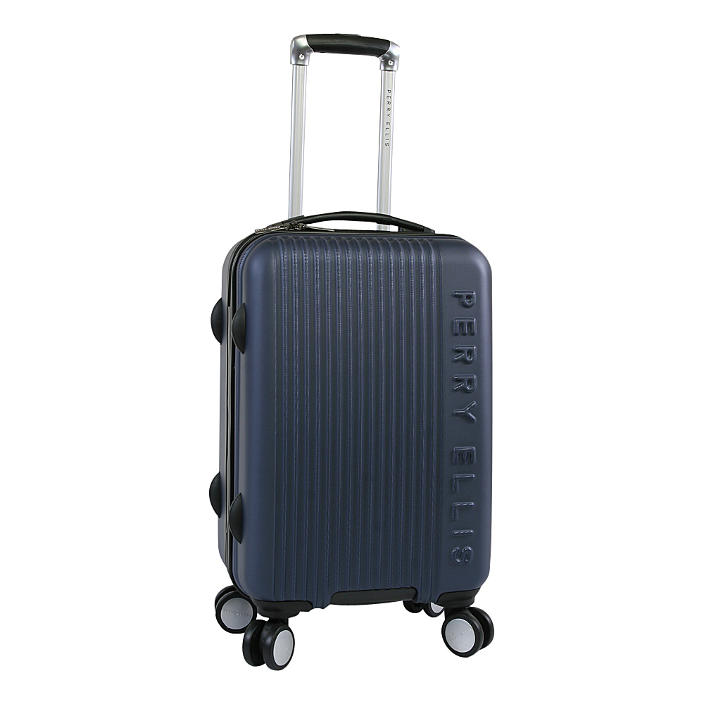 Perry Ellis Forte Hardside Spinner Carry-on Luggage Navy - Perry Ellis Hardside Carry-On