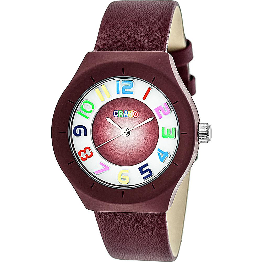 Crayo Atomic Strap Watch Maroon Crayo Watches