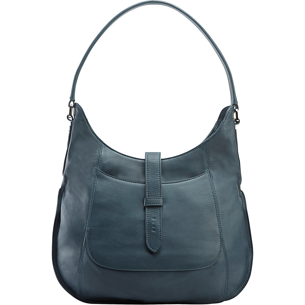 TUSK LTD Large Moto Slim Hobo Denim TUSK LTD Leather Handbags